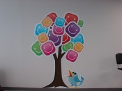 Wall Mural (Tree and Bird)