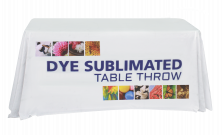 4' Full Dye Sublimated Table Throw