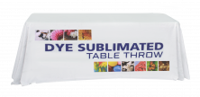 8' Full Dye Sublimated Table Throw