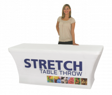 4' Stretch Dye Sublimated Table Throw