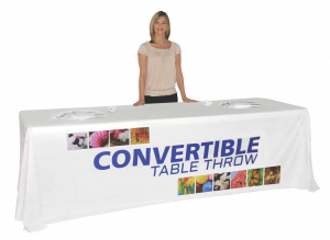 8' Full Dye Sublimated Convertible Table Throw